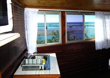 View from Self catering unit with enclosed balcony